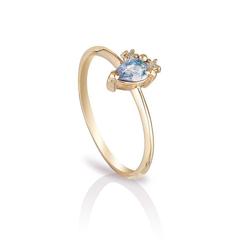 Adeline II | blue sapphire & diamonds - Limited edition
