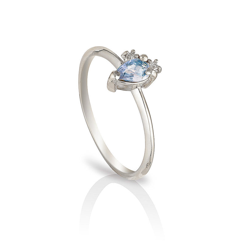 Adeline | blue sapphire & diamonds - Limited edition