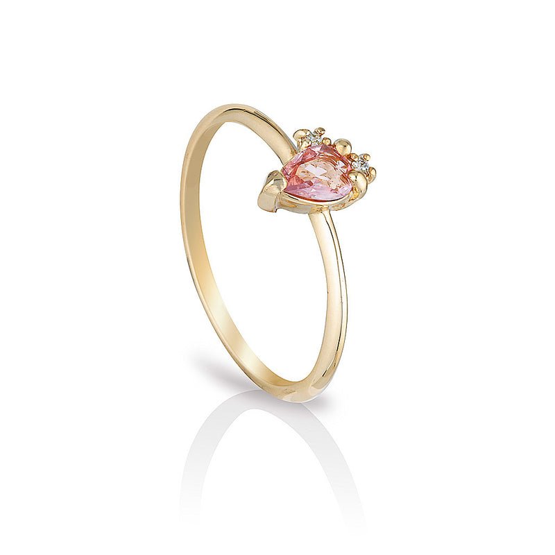 Adeline II | pink sapphire & diamonds - Limited edition