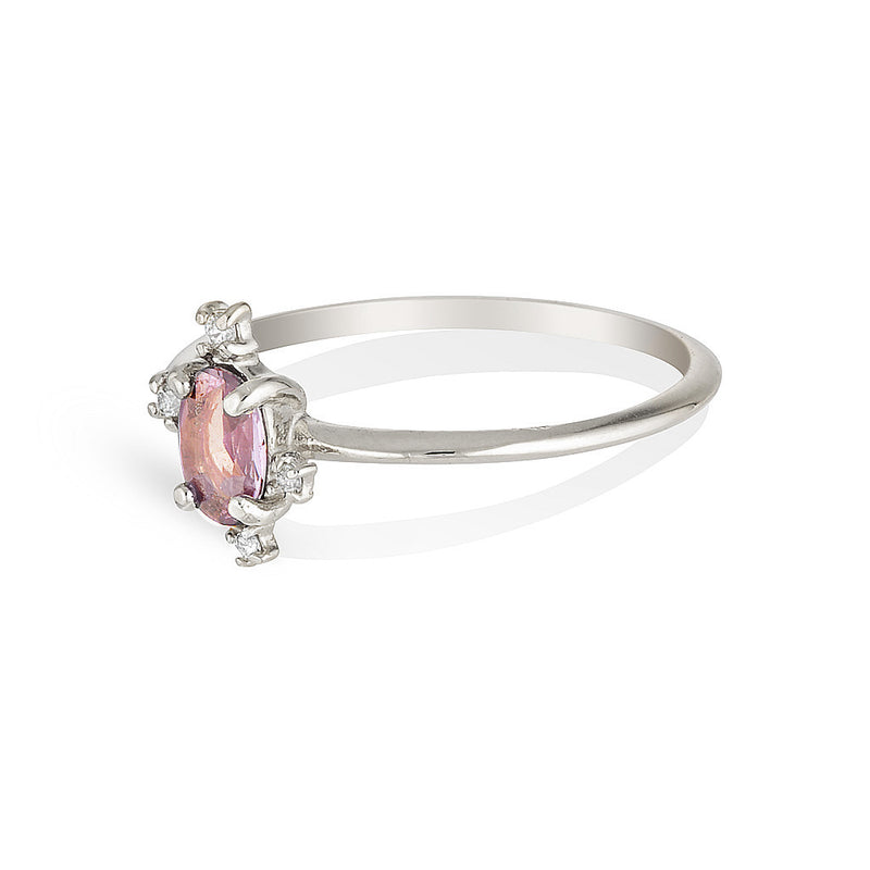 Dahlia | Pink sapphire & diamonds - Limited edition