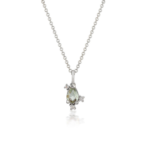 Adeline necklace  | green sapphire & extra diamonds - Limited Edition