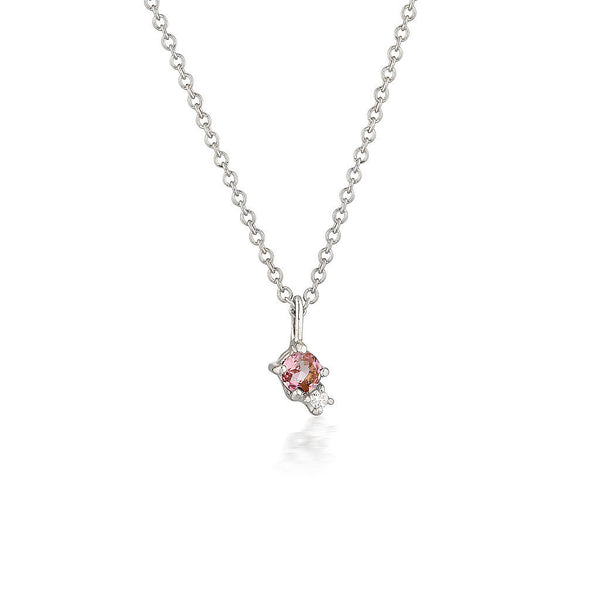 Mischa necklace | tourmaline & diamond