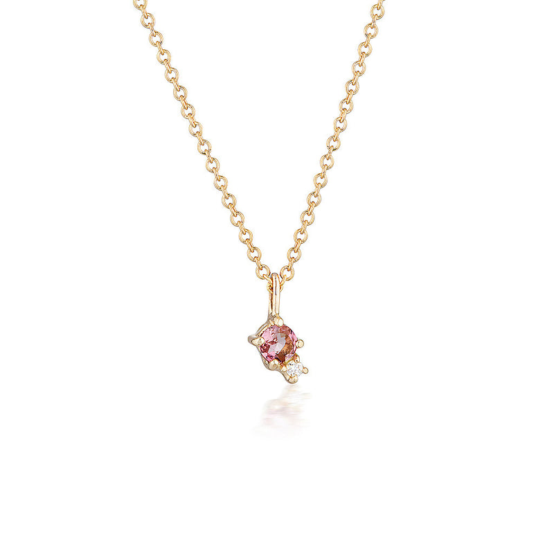 Mischa necklace II | tourmaline & diamond