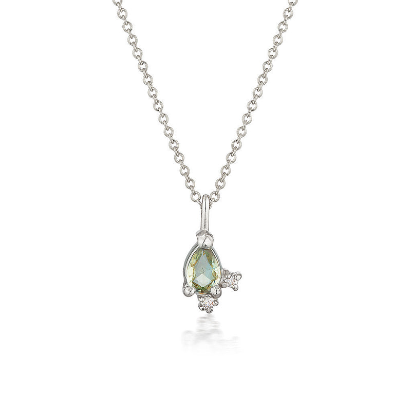 Adeline necklace | green sapphire & diamonds - Limited Edition