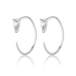 Sadie earrings | white topaz