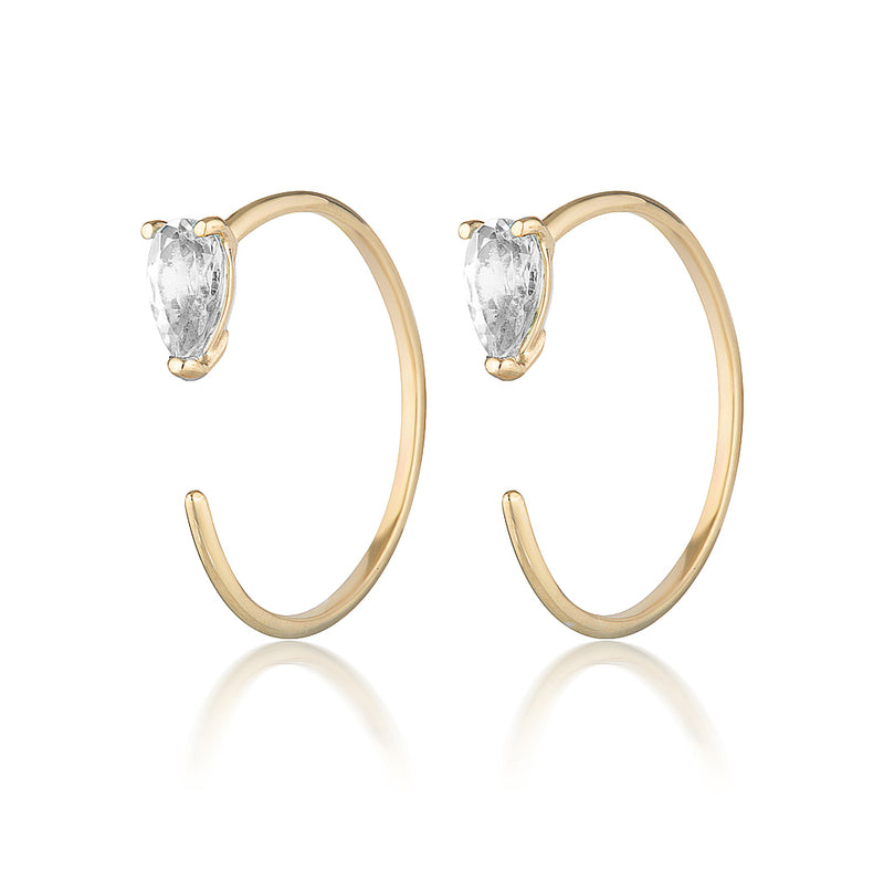 Sadie earrings II | white topaz