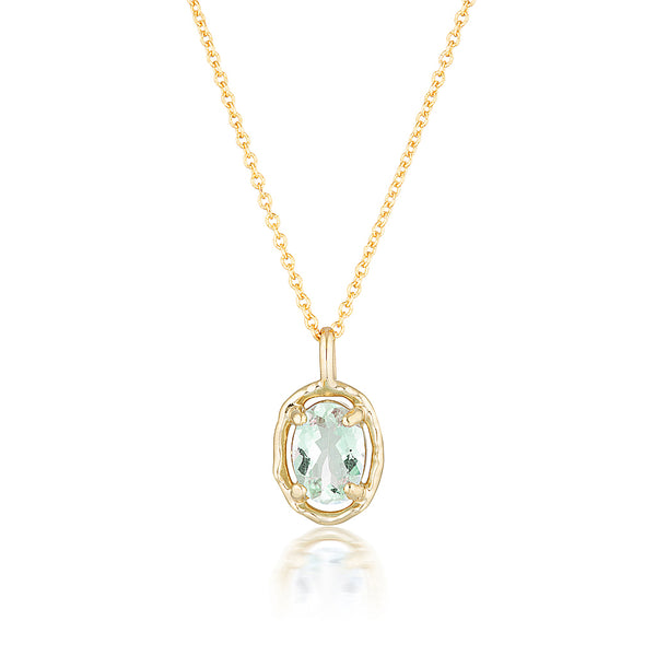 Gemma necklace II | green amethyst