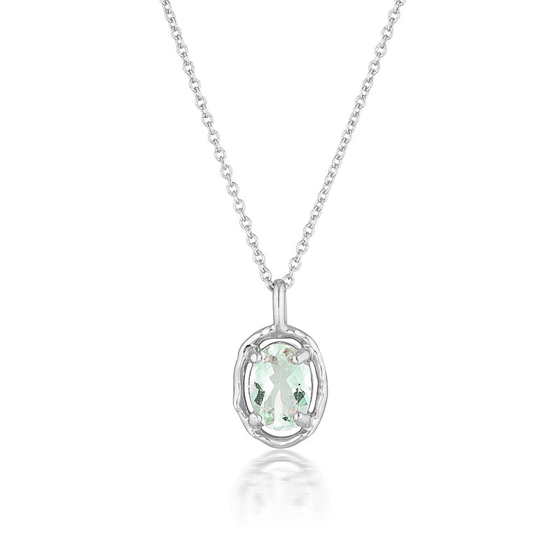 Gemma Necklace | green amethyst