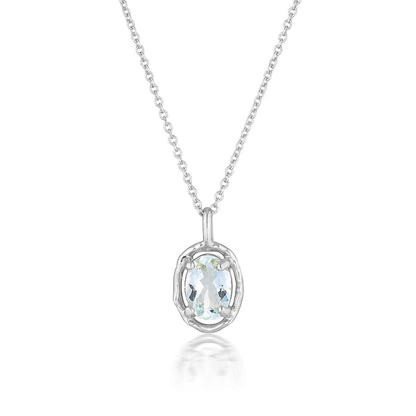 Gemma necklace | aquamarine
