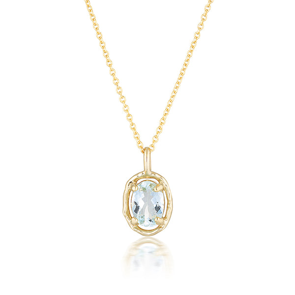 Gemma necklace II | aquamarine