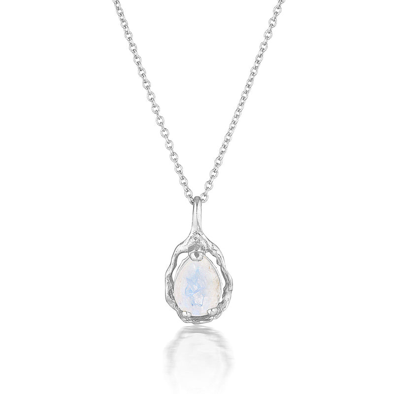 Pear Halo necklace | moonstone