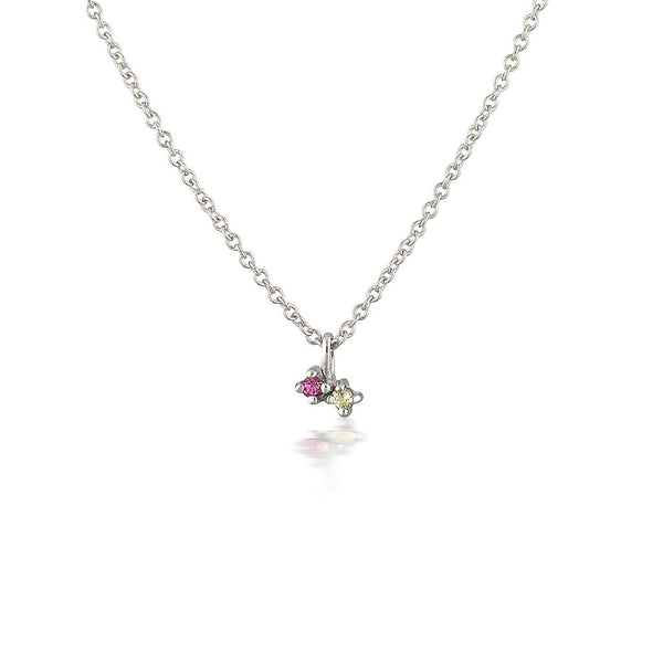 Twin Birthstone Necklace