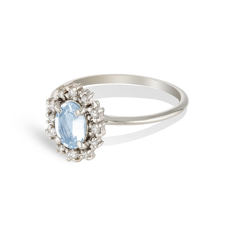 Everly | blue sapphire & diamonds