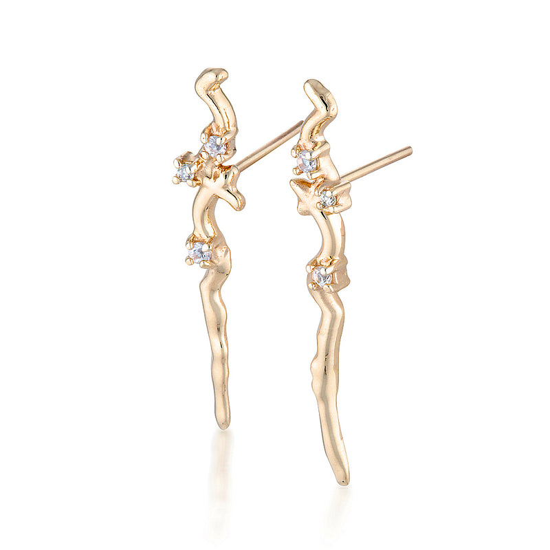 Bronte earrings II - diamonds