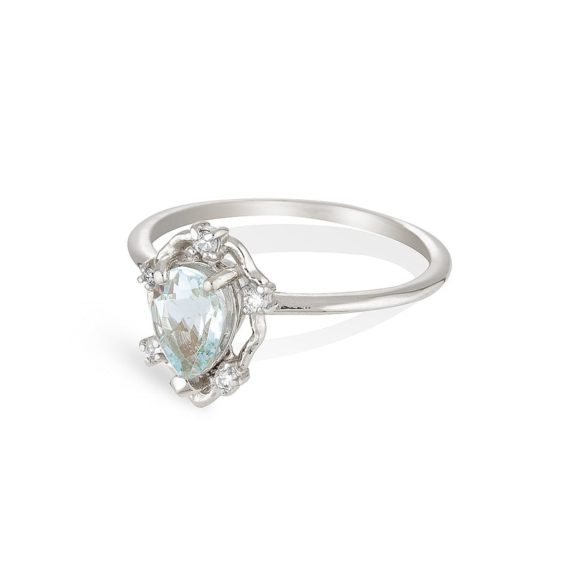 Peone | aquamarine & diamonds
