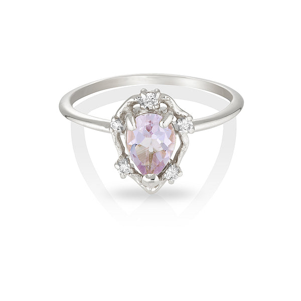 Peone | pink amethyst & diamonds