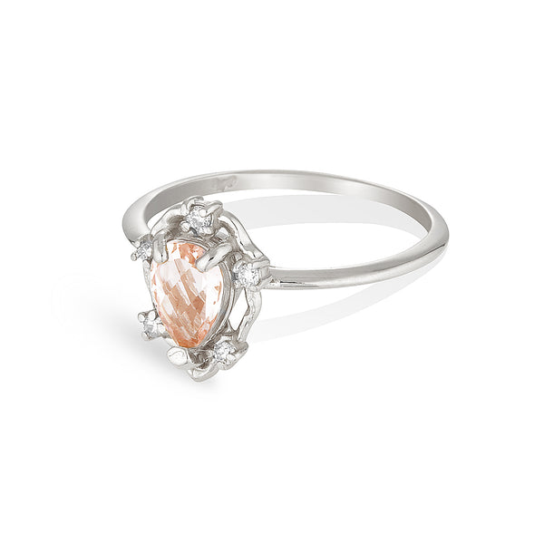 Peone | morganite & diamonds
