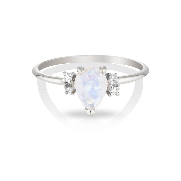 Lilah | moonstone & diamonds