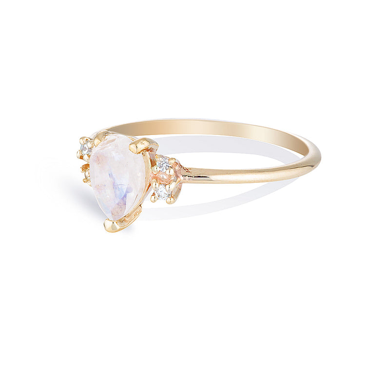 Lilah II | moonstone & diamonds