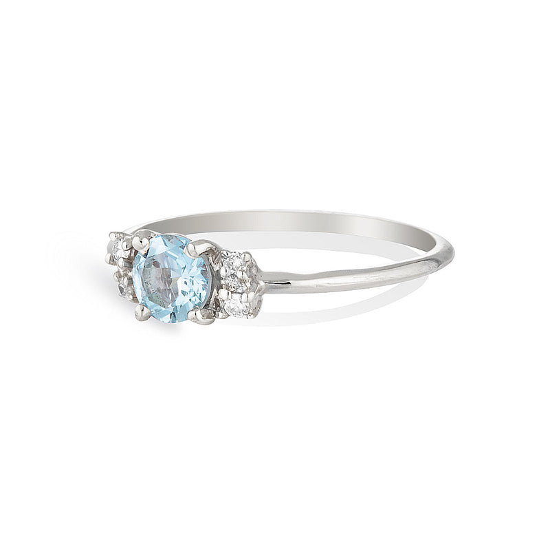 Hazel | aquamarine & diamonds