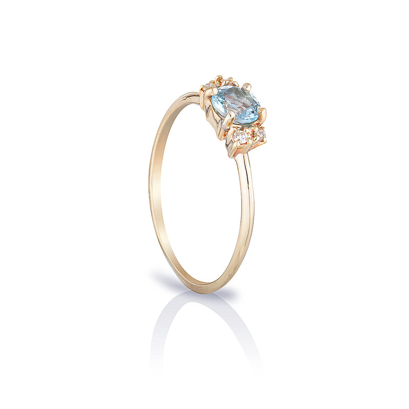 Hazel II | aquamarine & diamonds
