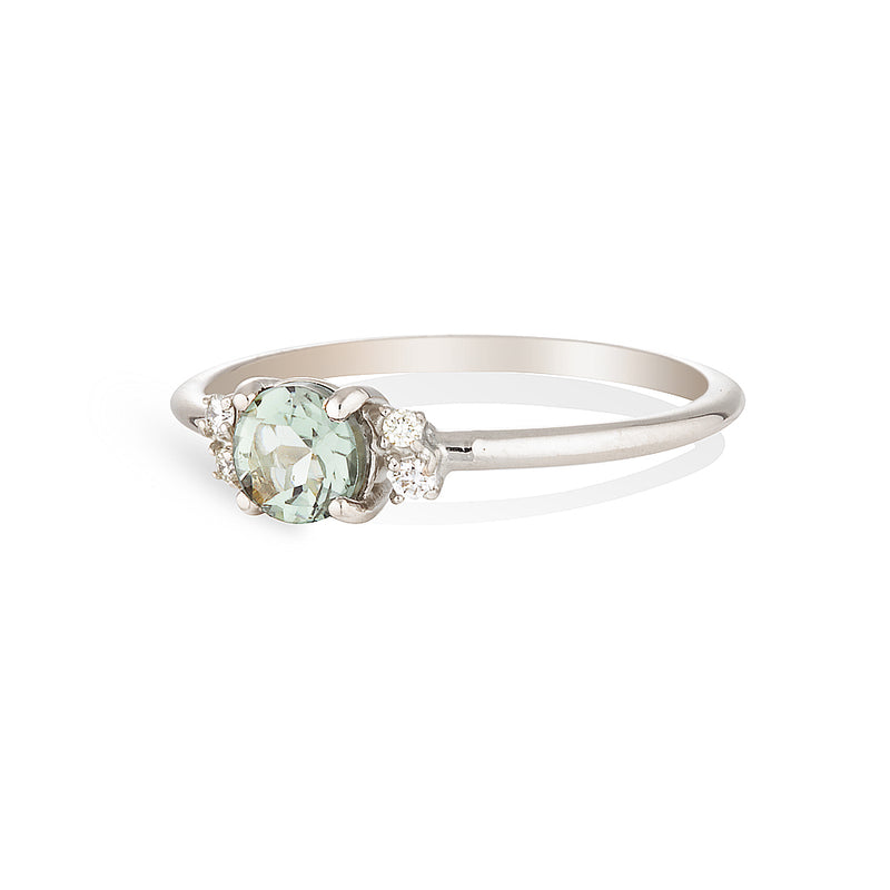 Hazel | green amethyst & diamonds