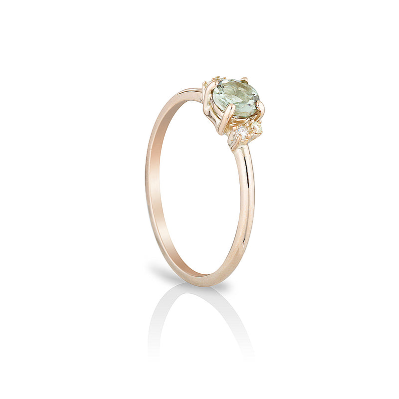 Hazel II | green amethyst & diamonds