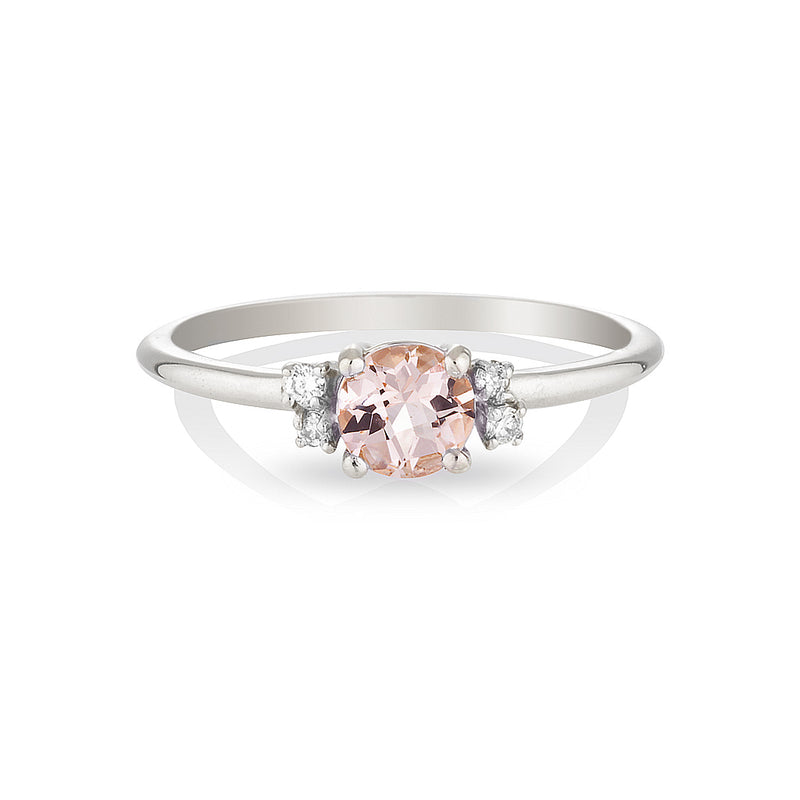 Hazel | morganite & diamonds