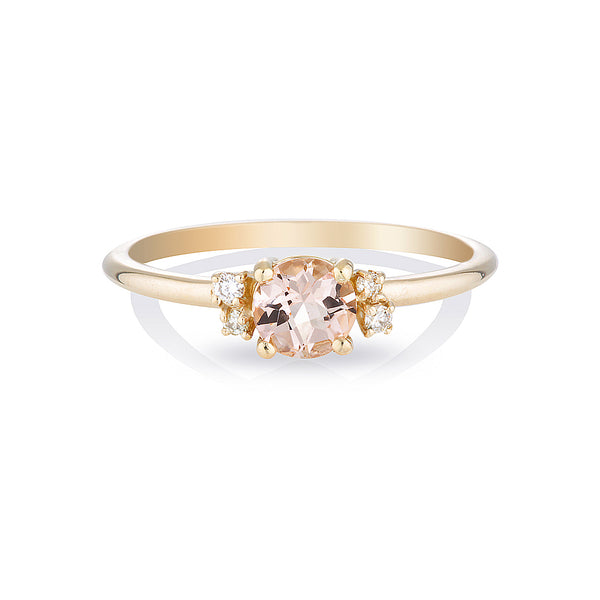 Hazel II | morganite & diamonds
