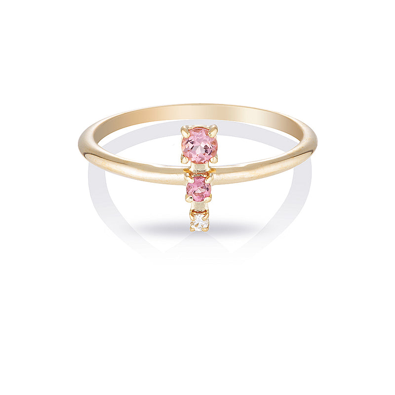 Mila II | tourmaline & diamond