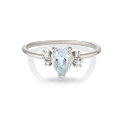 Lilah | aquamarine & diamonds