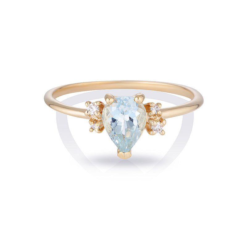 Lilah II | aquamarine & diamonds