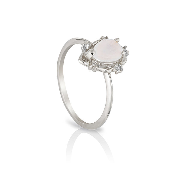 Peone | moonstone & diamonds