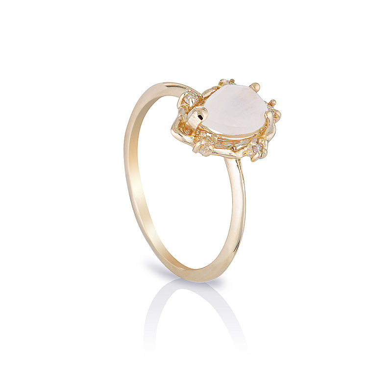 Peone II | moonstone & diamonds