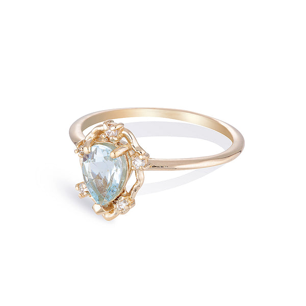 Peone II | aquamarine & diamonds