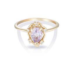 Peone II | pink amethyst & diamonds