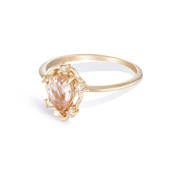 Peone II | morganite & diamonds