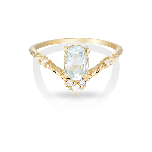 Mira II | aquamarine & diamonds