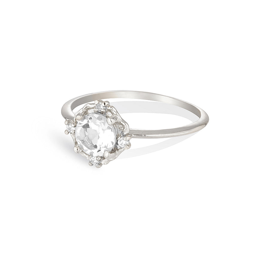 ADRIA | white topaz & diamonds