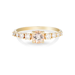 Maya large II | morganite & diamonds
