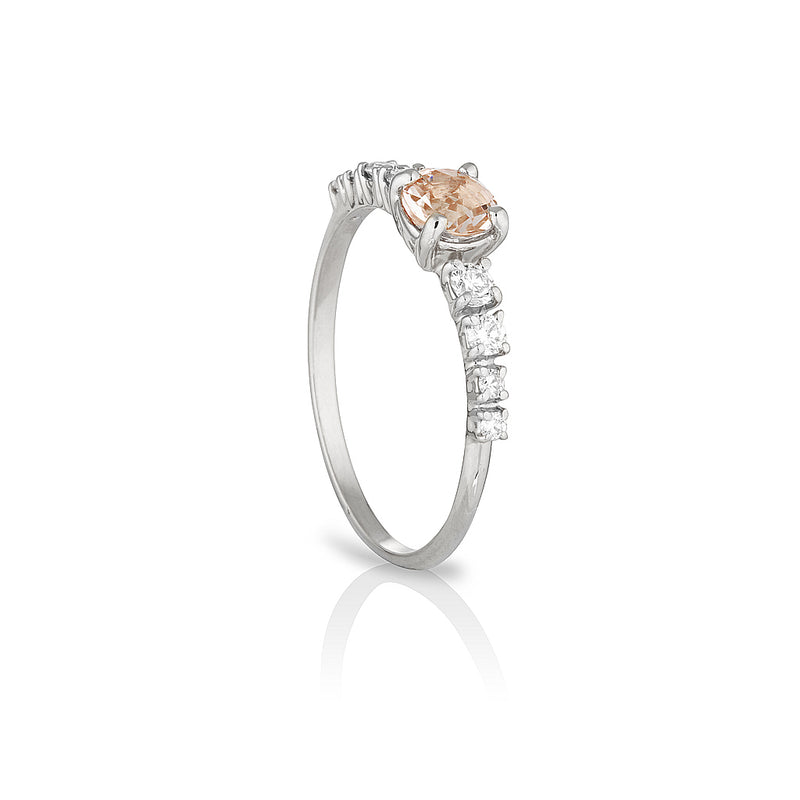 Maya large | morganite & diamonds