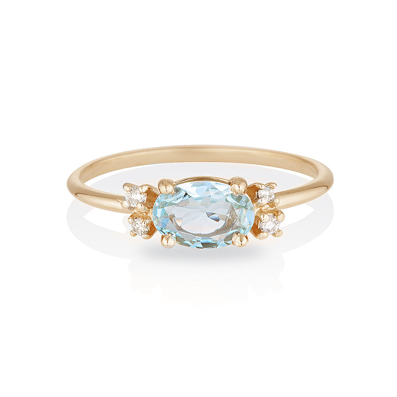 Penelope II | aquamarine & diamonds