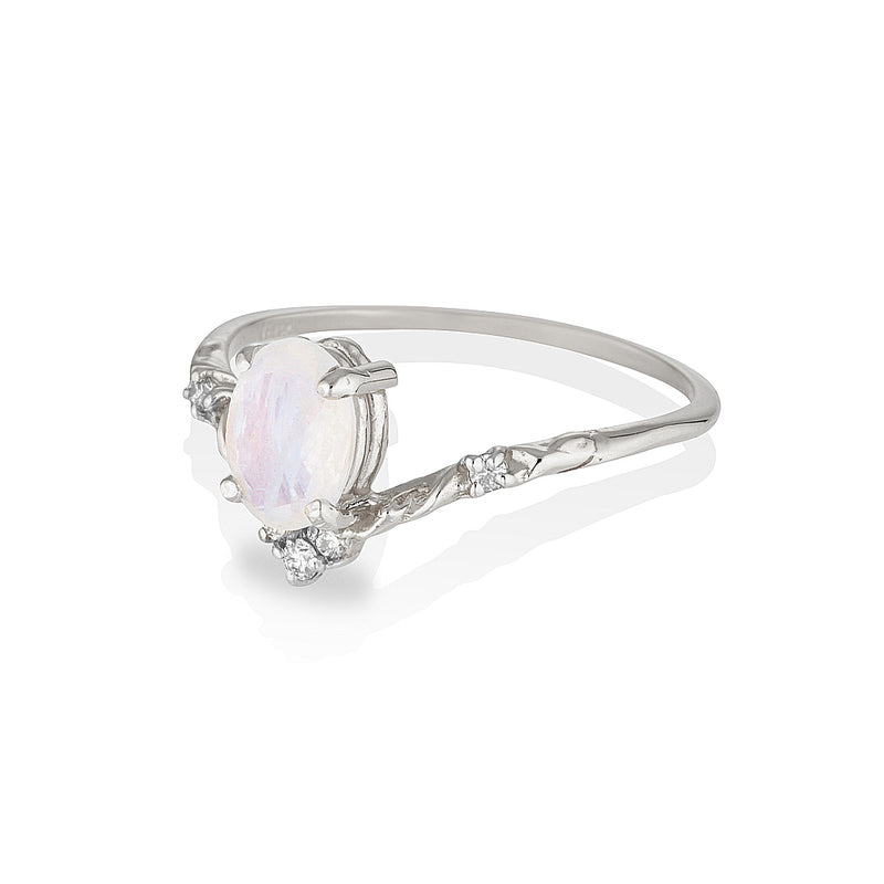 Mira | moonstone & diamonds