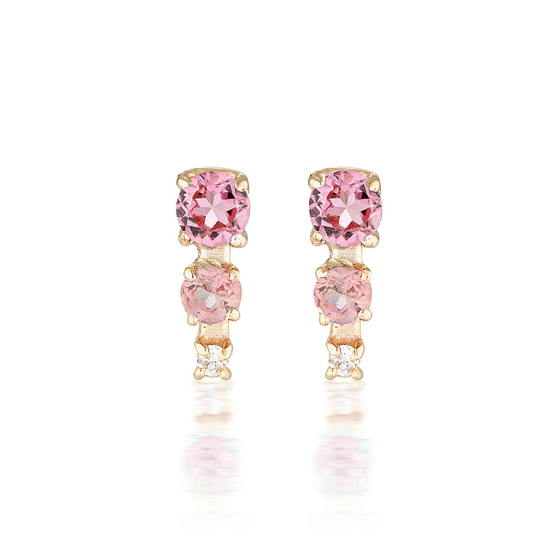 Mila studs II | tourmaline & diamond