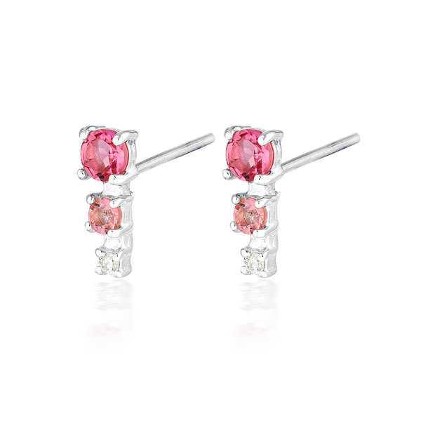 Mila studs | tourmaline & diamond