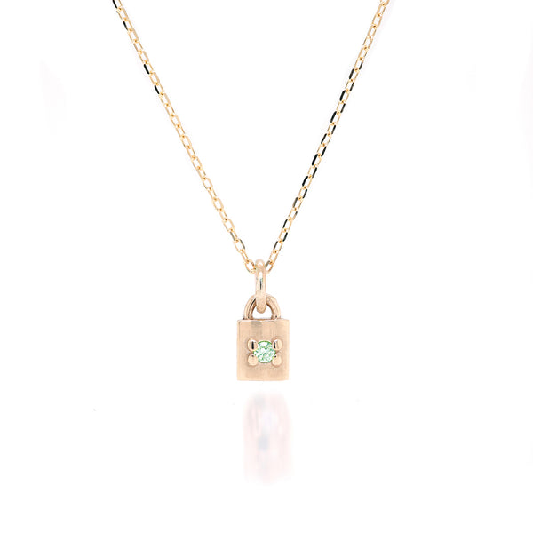 Mini Padlock Necklace II - birthstone