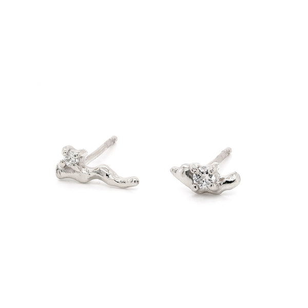 Carina studs | white diamond