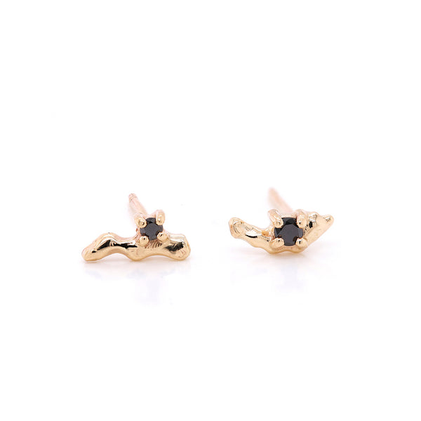 Carina studs II | black diamond