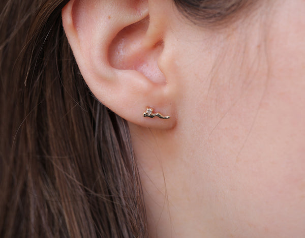 Carina studs II | white diamond