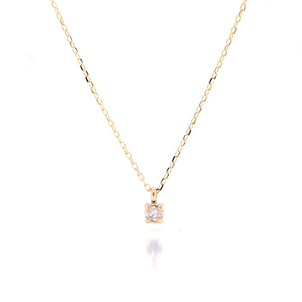 Faye necklace II | white diamond